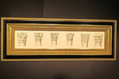 Antique Vintage Old Framed Architectural Drawings