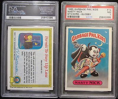 1a Nasty Nick Glossy Back  PSA 7 1985 First Series 1 OS1 GPK Extended Variation