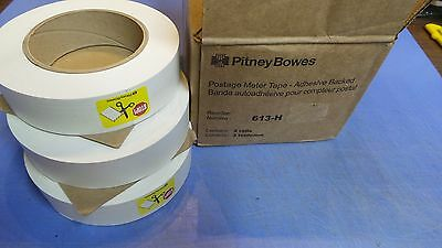 3 – Rolls, Pitney Bowes 613-H Postage Meter Tape, Adhesive Backed.  NEW in Box