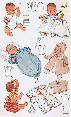 """2659 Vintage Baby Doll Pattern - Size 11"""" - Year 1948"""