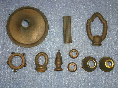 Vintage Brass Chandelier Parts 10 Pieces Lamp Steampunk