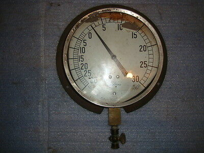 Vintage Large Gauge With Brass Valve Repurpose Altered Art #2 Antique Steampunk