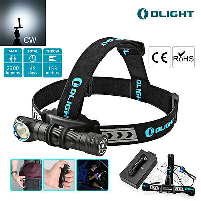 Olight H2R Nova Cool White CREE LED Head Torch Rechargeable 18650 Battery 2300LM