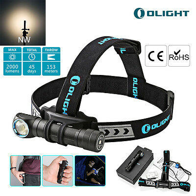Olight H2R Nova Neutral White CREE LED Head Torch Rechargeable 18650 Battery UK