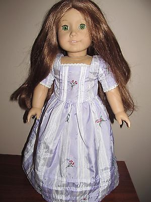 "Pleasant Company American Girl Felicity 18"" Red Hair Green Eye Doll Meet Dress"