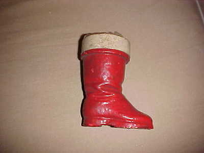 Vintage Santa Boot Candy Container