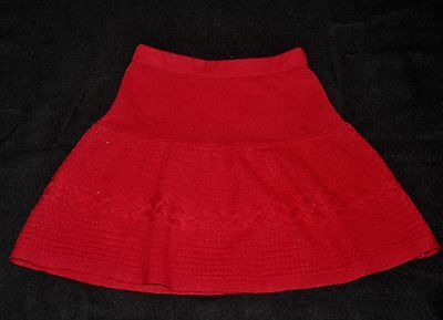 Gymboree Red Sweater Skirt Size 6 Christmas Holiday Winter Knitted