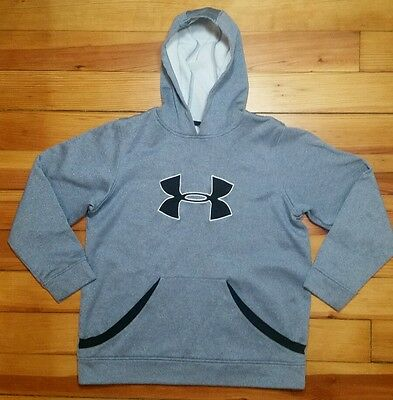 UNDER ARMOUR Blue Gray Hoodie Sweater Boys Youth Large