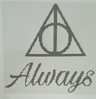 Harry Potter Severus Snape Always Completed Cross Stitch - Allow 3-4 weeks