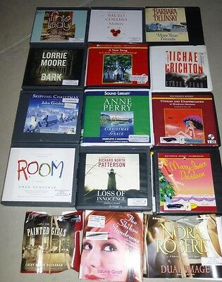 Lot of 15 Adult Fiction Unabridged Audiobooks on CD: Barbara Delinsky etc..