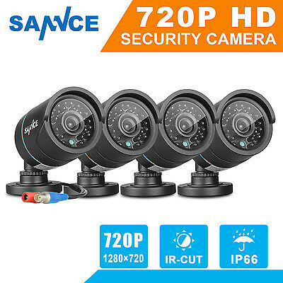 SANNCE 4x CCTV Security 720P Camera 1500TVL Outdoor Waterproof IR Night Vision