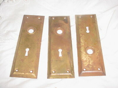 Antique vintage architectural door knob plates back plates Victorian era