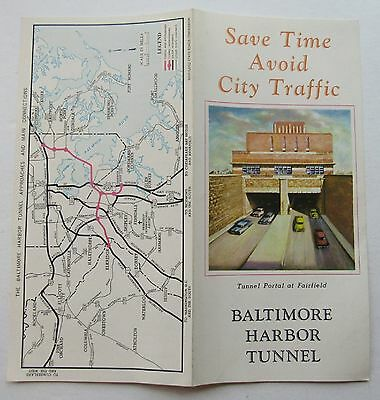 Travel Brochure For The Baltimore Harbor Tunnel 1957