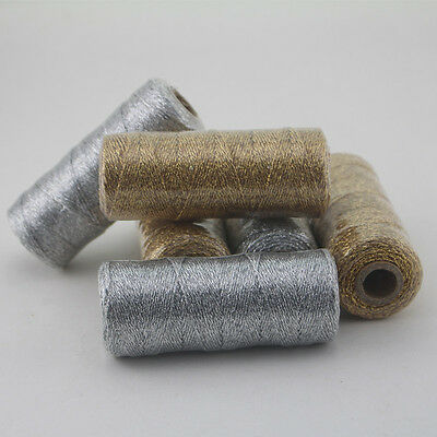 3pcs Metallic Gold/Silver Bakers Twine 110 yard spool 3 Ply Thick String