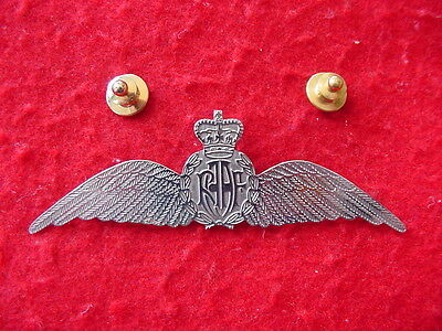 Post WW2 Era Royal Australian Air Force RAAF Sweetheart Wing in Nickel Silver