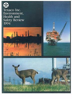 Vintage Texaco Inc Environment Health and Safety Report 1994 - company - booklet