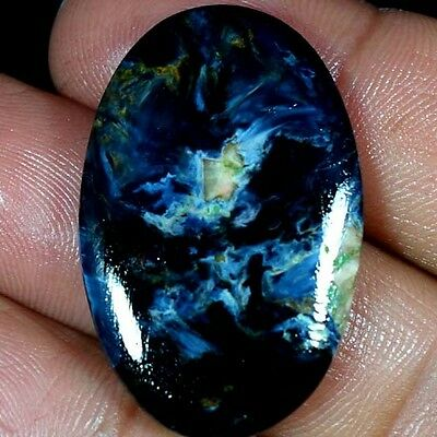 27.45Cts. 100% NATURAL CHATOYANT PIETERSITE OVAL CABOCHON FINE QUALITY GEMSTONES