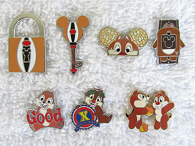7 Disney CHIP & DALE Pins  Traders