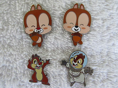 4  Disney CHIP & DALE  Pins   Authentic