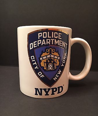 Nypd Official City Of New York Police Dept Shield White Coffee Mug