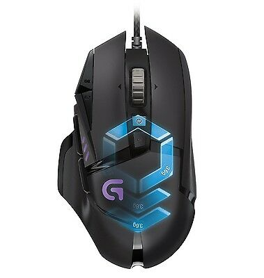 Logitech G502 Proteus Spectrum RGB tunable gaming mouse, genuine, brand new
