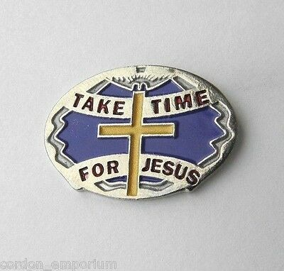 Take Time For Jesus Religious Novelty Lapel Pin Badge 1 Inch