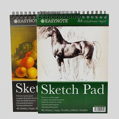 Drawing Book Pad 40 Sheets 170 gsm  A4 Artist Sketch