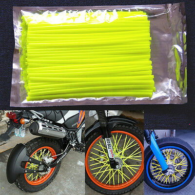 Yellow Spoke Wraps, Spoke Coats, Spoke Covers, Ktm,crf,yzf,te Fe Tc Tx,rmz,kxf