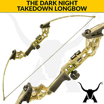 The Dark Night - Camo - 30lbs Takedown Longbow for archery and bowfishing