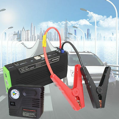 AU Portable 68800mAh 4USB LED Power Bank Car Jump Starter Booster Charger & Pump