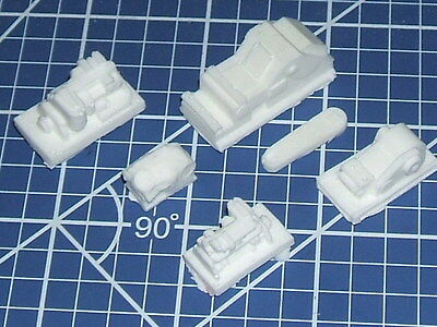 N scale unpainted lot of machinery resin casting