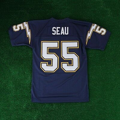 4014cc55ad4 Junior Seau 1994 San Diego Chargers MITCHELL & NESS Home Throwback Jersey  Men's