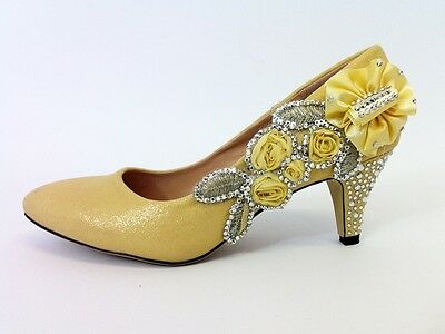 Chaussures Mariage Mariée/Nuptial/Demoiselle d'honneur/Bal/Chaussures Or Taille