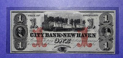 $1 City Bank of New Haven Connecticut Obsolete Note CU