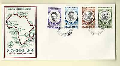 Seychelles African Liberation Heroes 1979 Official Fdc Sc 430-33 Free World Ship