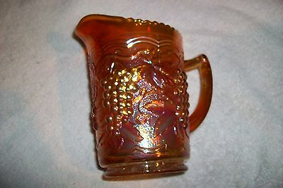 Old GEORGIA PEACH ART GLASS GEM IMPERIAL CARNIVAL PITCHER EMBOSSED Depression A1