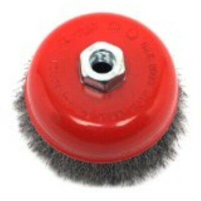 Forney 72754 Wire Cup Brush, Coarse Crimped with5/8-Inch-11 Threaded Arbor, 5-I