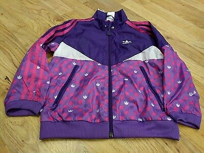 Adidas Girls Jacket purple and pink size 5 years