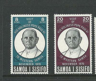 1970 Visit from the Pope Set of 2 Stamps Complete MUH/MNH SG 358 - 359