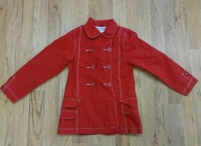 Girls Next red coat mac trench size 4-5 years