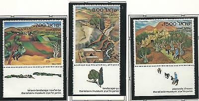 1982 Israel Art  set 3 all with Tabs  MUH/MNH