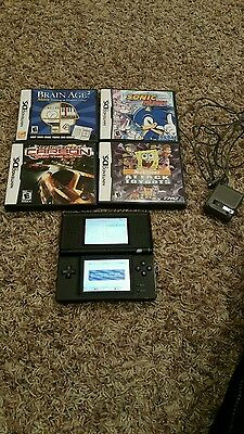 NINTENDO DS LITE WITH 4 GAMES Tested