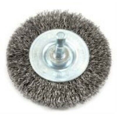 Forney 72735 Wire Wheel Brush, Coarse Crimped with 1/4-Inch Hex Shank, 3-Inch-by