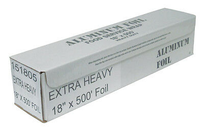 """Durable Packaging 18"""" x 500' EXTRA Heavy Duty Aluminum BBQ Grill Foil Wrap Roll"""