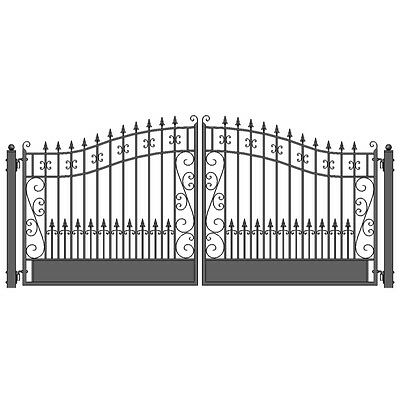 ALEKO Venice Style Ornamental Iron Wrought Dual Driveway Gate 18' High Quality