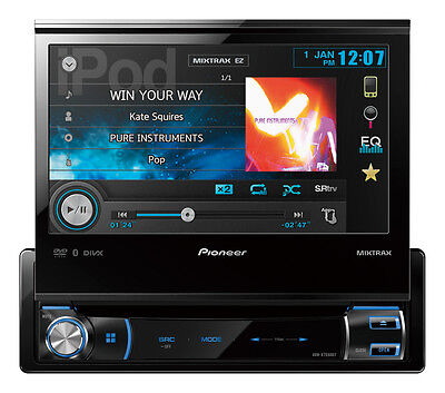 """Pioneer AVH-X7550BT 7"""" Single-din fold out screen with Bluetooth and USB"""