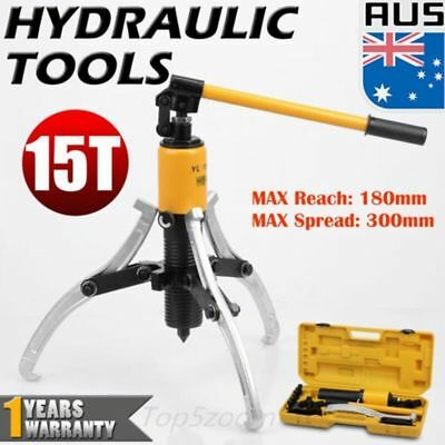 15Ton Hydraulic Bearing Puller MaxReach 300mm Hub Separator Garage Car Repair AU