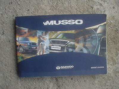 Daewoo Musso Owners Manual