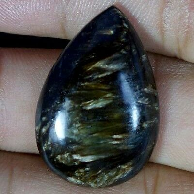 21.30Cts. 100% Natural Golden Seraphinite Cab Pear African Cabochon Gemstone