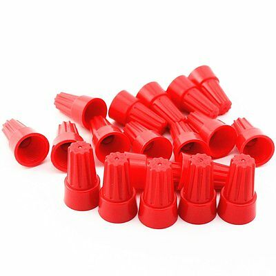 100Pcs Red P6  Wire Connector Twist-On Terminals Cap Spring 22-10 AWG
